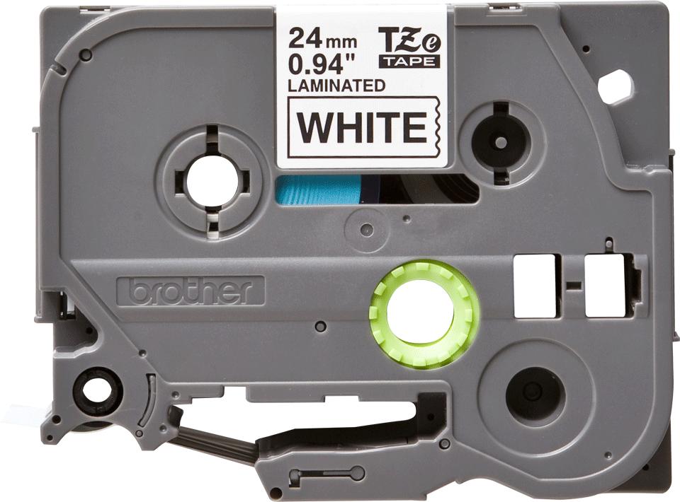 Brother TZe-251 original etikettape- svart på vit, 24 mm bred