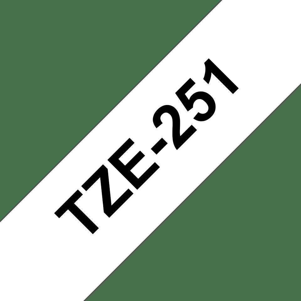Brother TZe-251 original etikettape- svart på vit, 24 mm bred 3