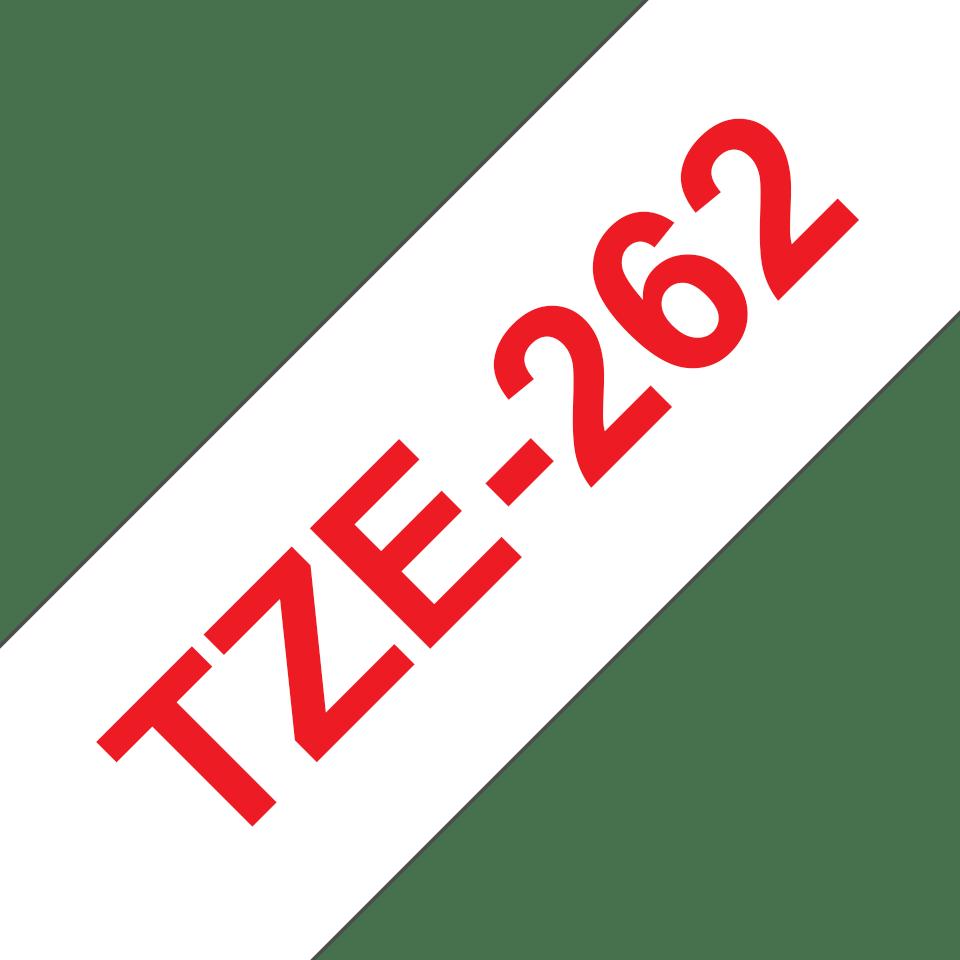 Brother TZe262 original etikettape röd på vit , 36 mm bred 3