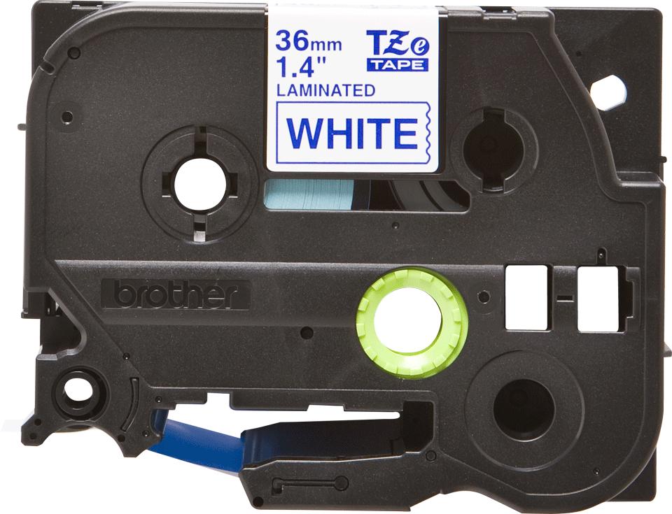 Brother TZe263 original etikettape blå på vit, 36 mm.