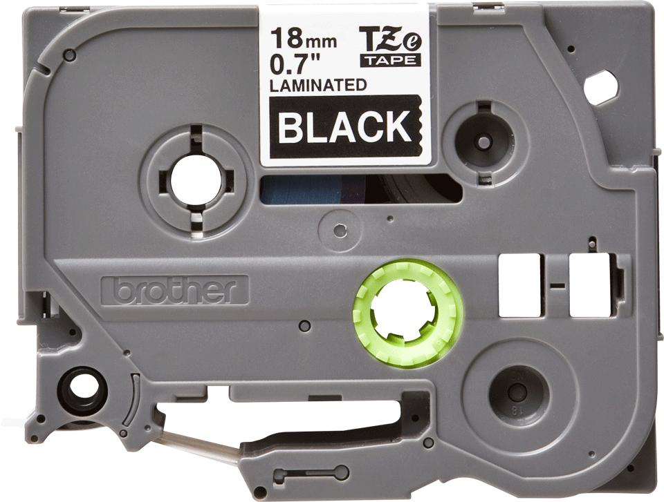 Brother TZe345 original etikettape, vit på svart, 18 mm