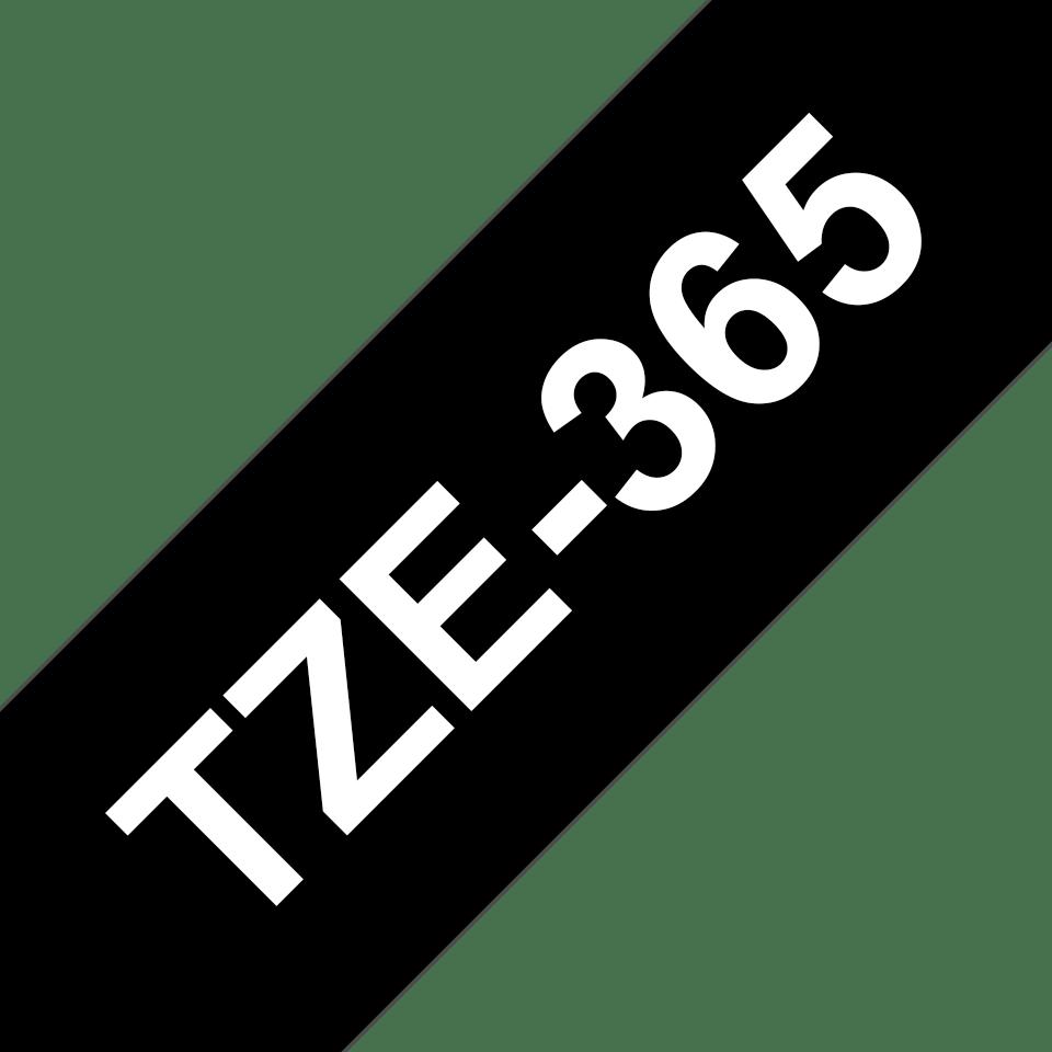 Brother TZe365 original etikettape, vit på svart, 36 mm  3