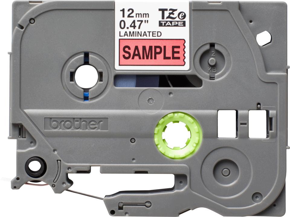 Brother TZe431S original etikettape, svart på röd, 12 mm