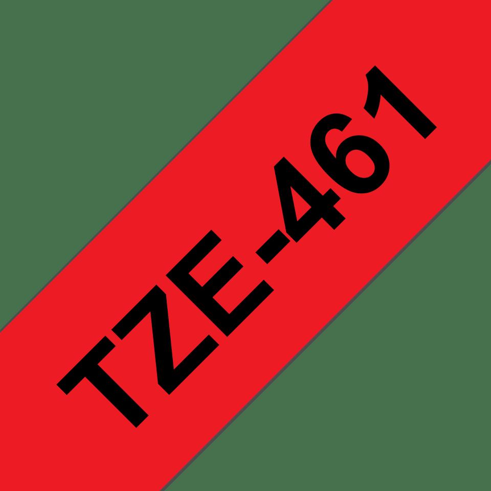 Brother TZe461 original etikettape, svart på röd, 36 mm  3