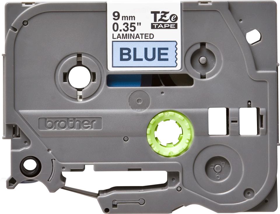 Brother TZe521 original etikettape, svart på blå, 9 mm