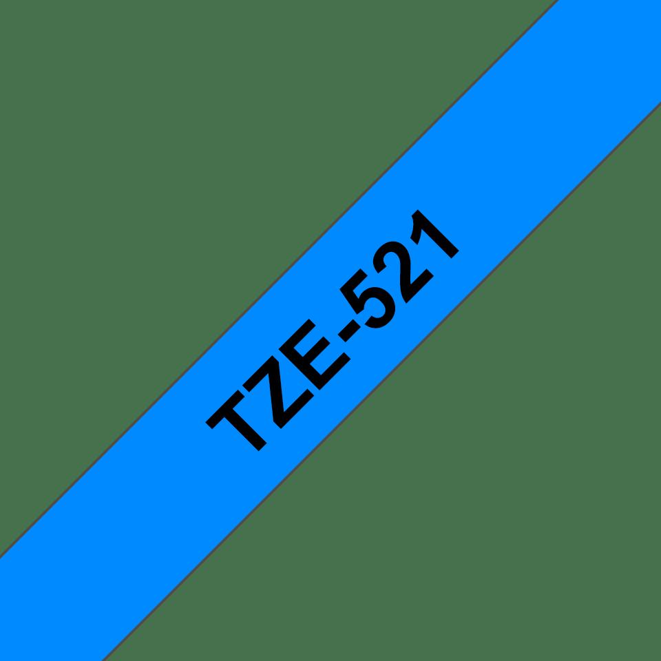 Brother TZe521 original etikettape, svart på blå, 9 mm 3