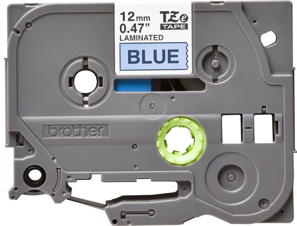 Brother TZe531 original etikettape, svart på blå, 12 mm