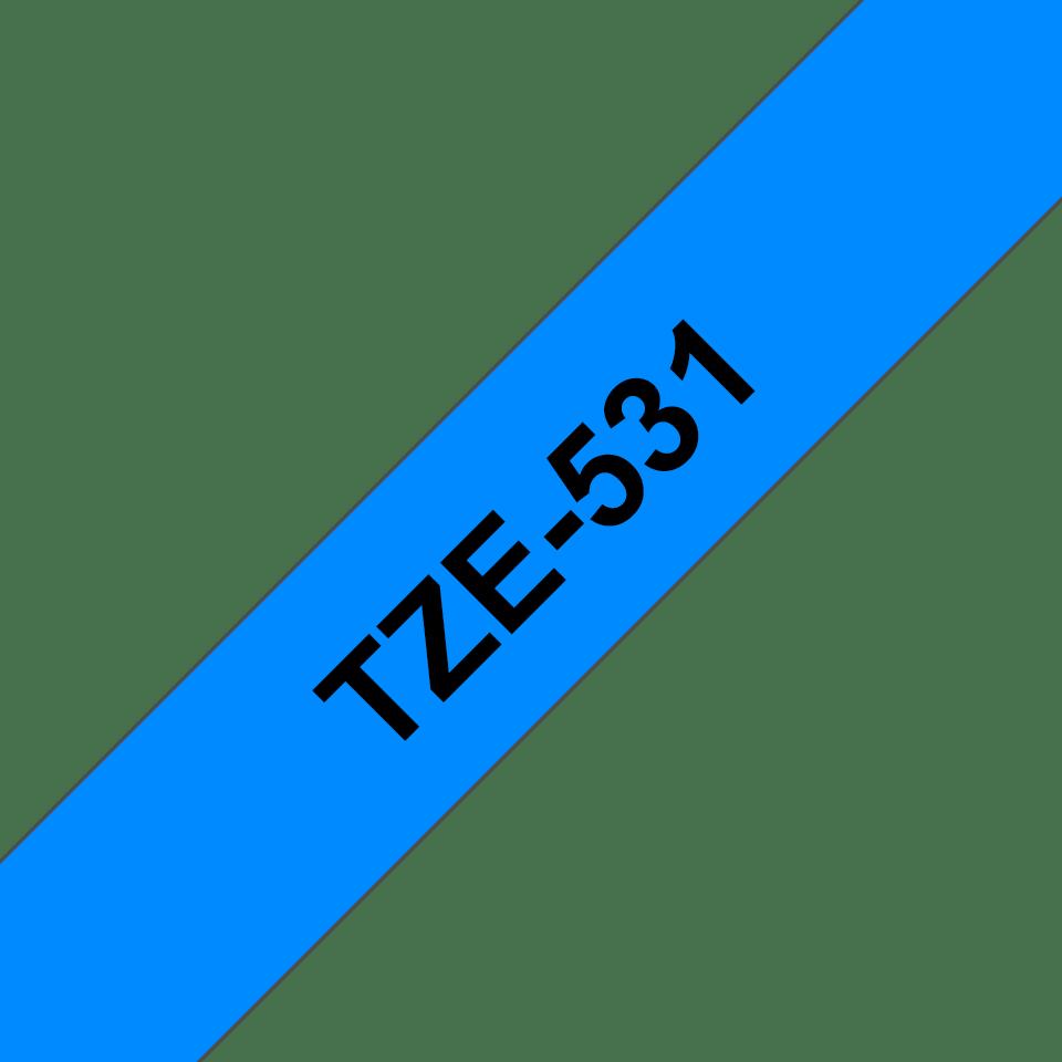 Brother TZe531 original etikettape, svart på blå, 12 mm 3