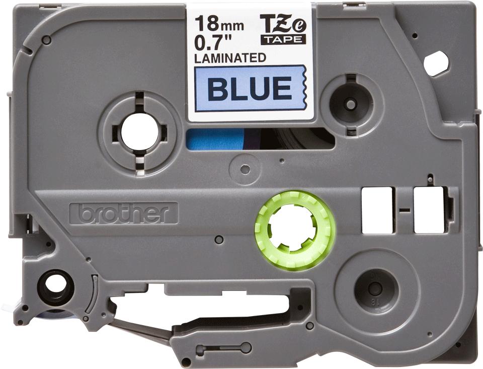 Brother TZe541 original etikettape, svart på blå, 18 mm