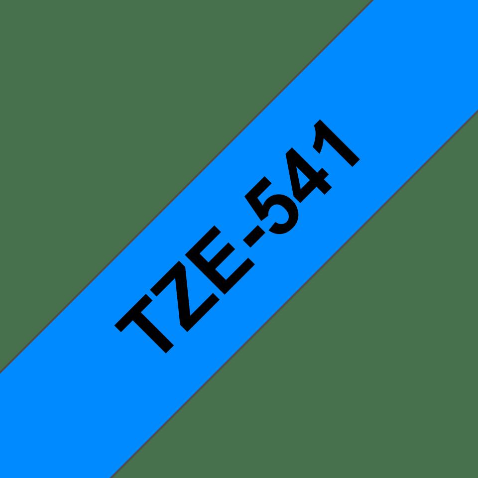 Brother TZe541 original etikettape, svart på blå, 18 mm 3