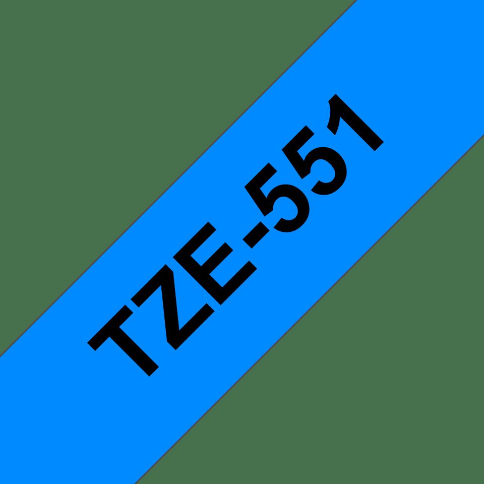 Brother TZe551 original etikettape, svart på blå, 24 mm 3