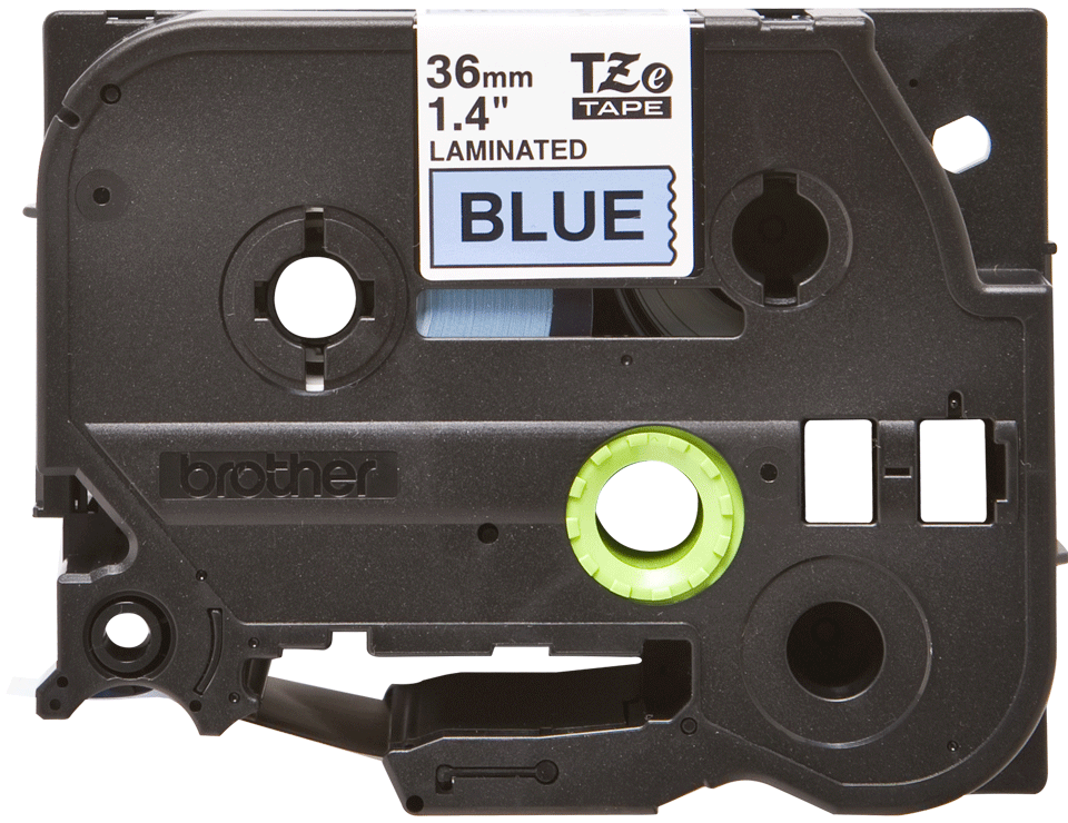 Brother TZe561 original etikettape, svart på blå, 36 mm