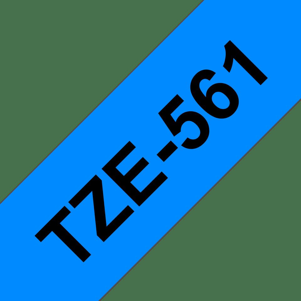Brother TZe561 original etikettape, svart på blå, 36 mm 3