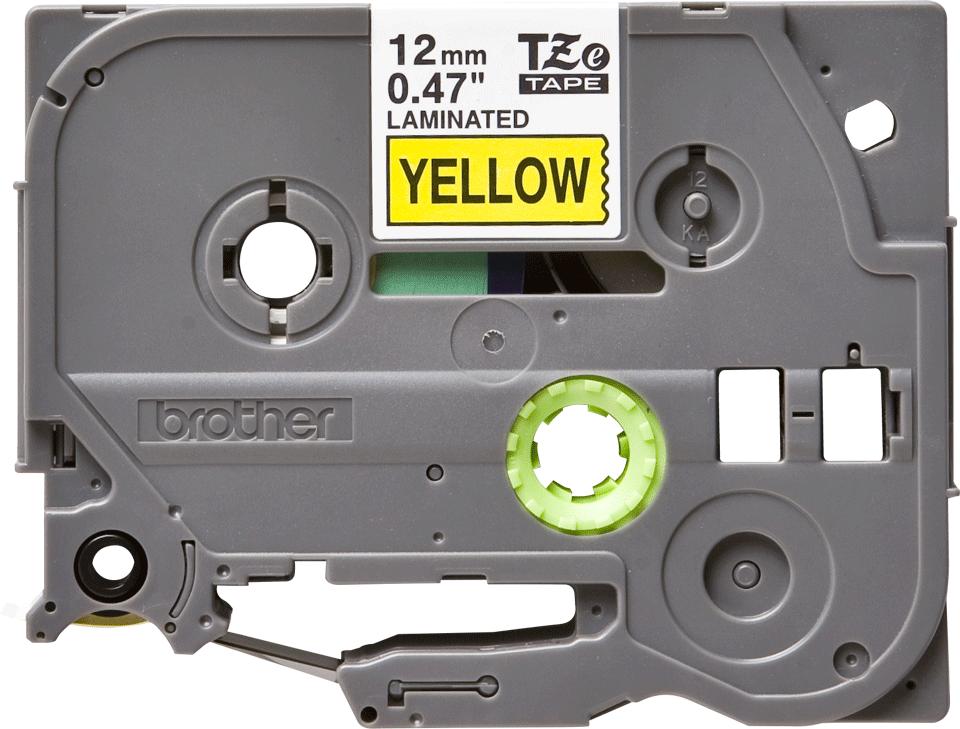 Brother TZe-631 original etikettape- svart på gul, 12 mm bred