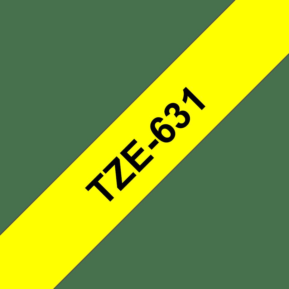 Brother TZe-631 original etikettape- svart på gul, 12 mm bred 3
