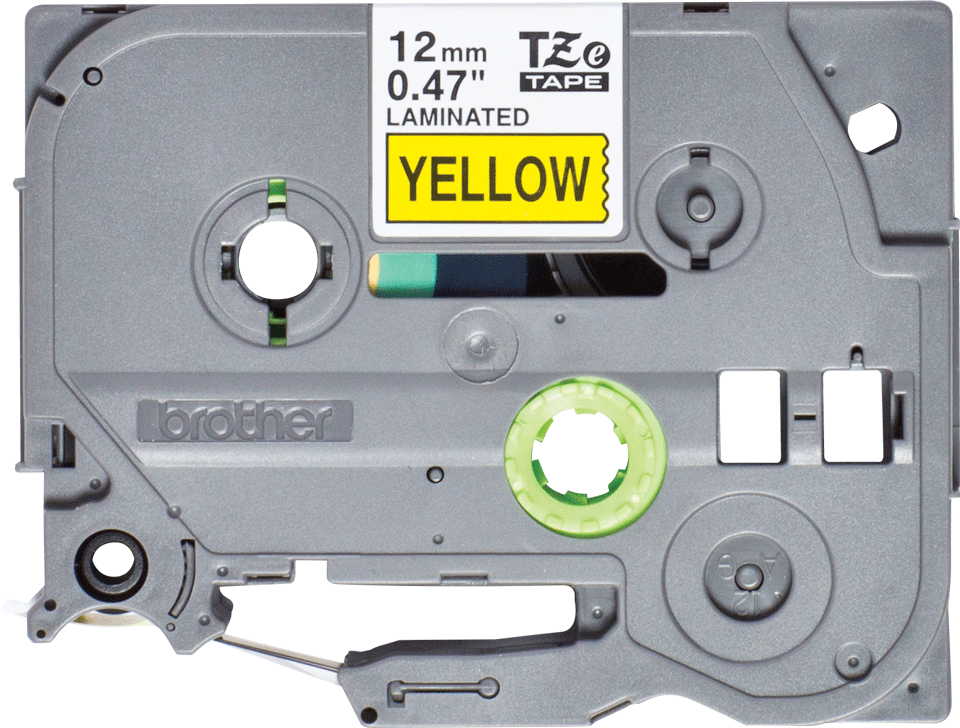 Genuine Brother TZe-631S Labelling Tape Cassette – Black on Yellow, 12mm wide