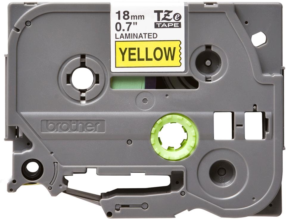 Brother TZe641 original etikettape, svart på gul, 18 mm