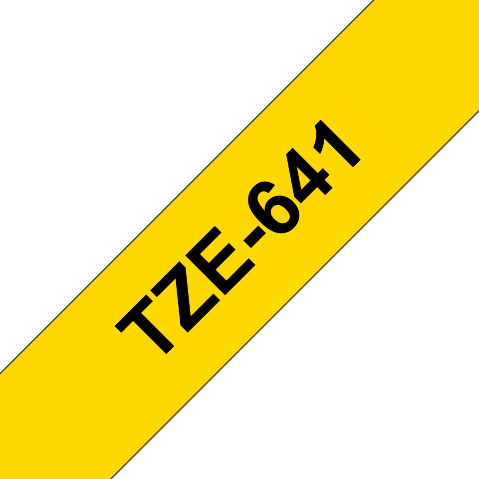 Brother TZe641 original etikettape, svart på gul, 18 mm  3