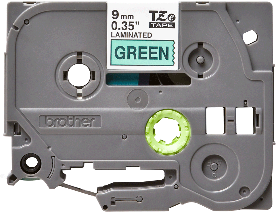 Brother TZe721 original etikettape, svart på grön, 9 mm