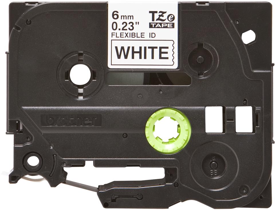Brother TZeFX211 original etikettape, svart på vit, 6 mm