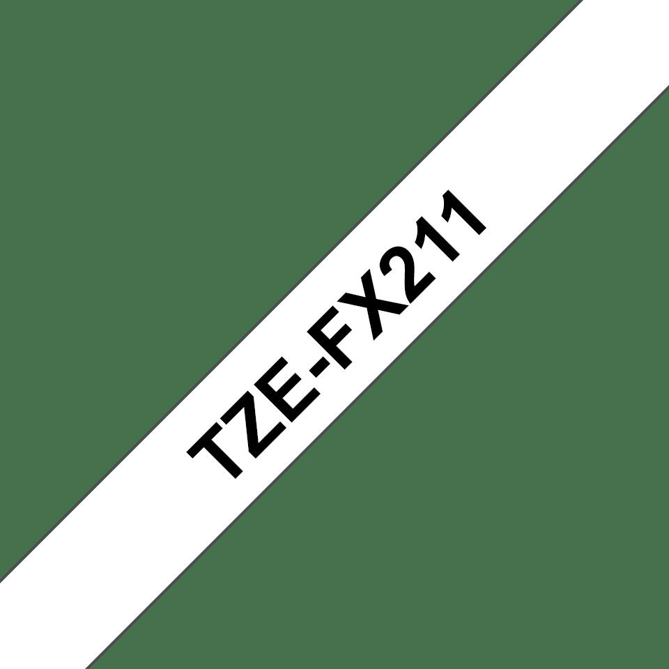 Brother TZeFX211 original etikettape, svart på vit, 6 mm  3