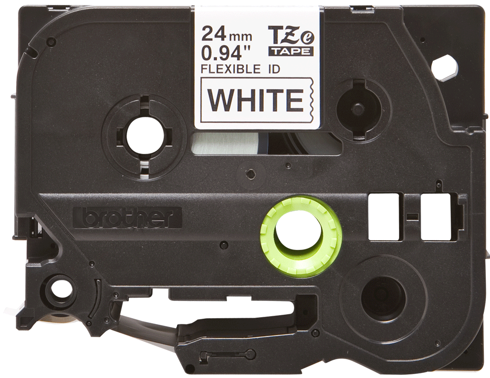 Brother TZeFX251 original etikettape, svart på vit, 24 mm