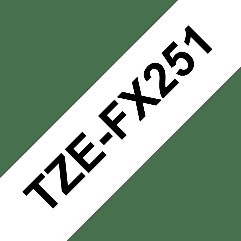 Brother TZeFX251 original etikettape, svart på vit, 24 mm 3