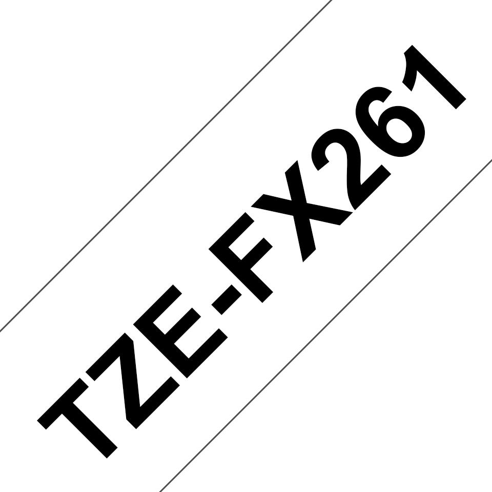 Brother TZeFX261 original etikettape, svart på vit, 36 mm 3