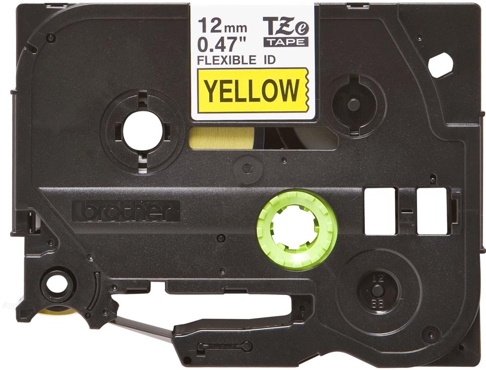 Brother TZeFX631 original etikettape, svart på gul, 12 mm