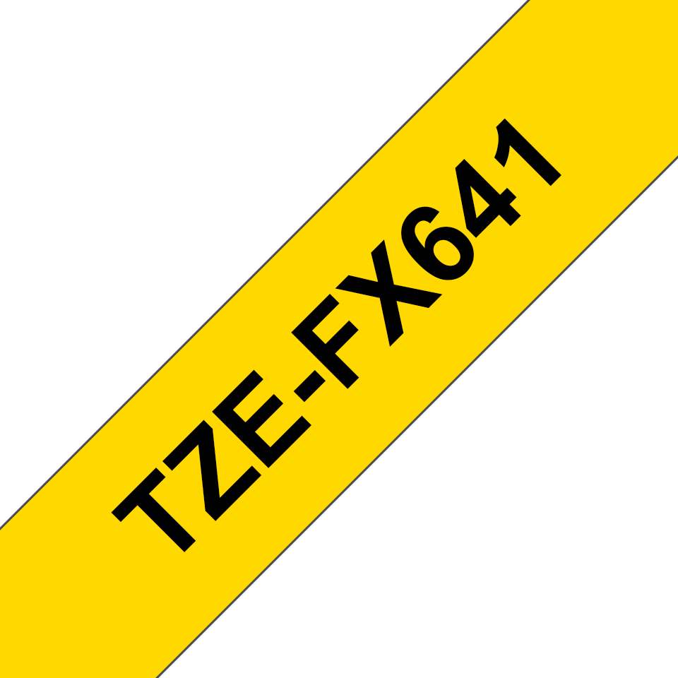 Brother TZeFX641 original etikettape, svart på gul, 18 mm  3