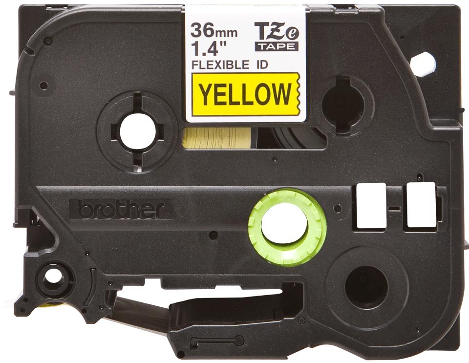 Brother TZe661 original etikettape, svart på gul, 36 mm