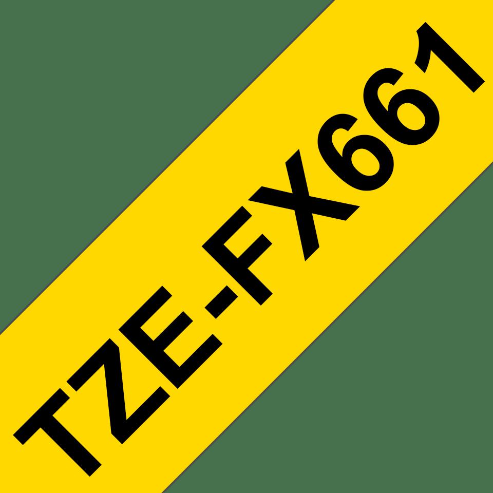 Brother TZe661 original etikettape, svart på gul, 36 mm  3