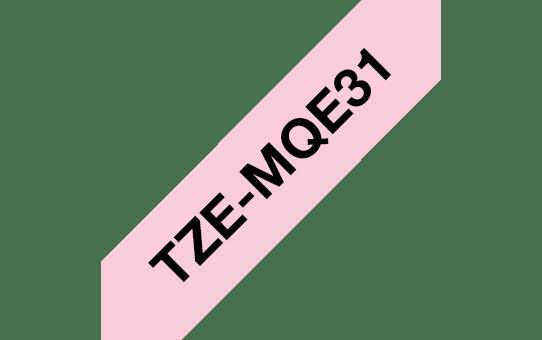 Brother TZeMQE31 original etikettape, svart på rosa, 12 mm 3