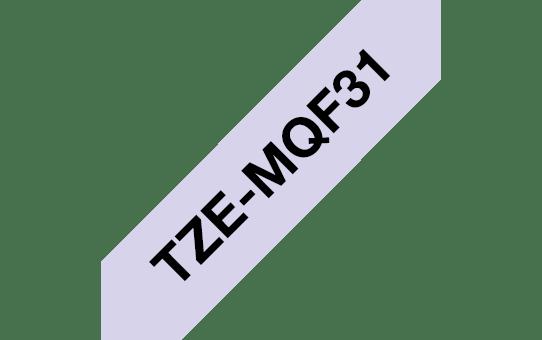 Brother TZeMQE31 original etikettape, svart på lila, 12 mm 3