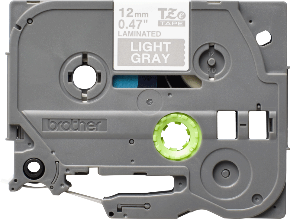 Brother original TZe-MQL35 etikettape - vit på grå, 12 mm bred   0