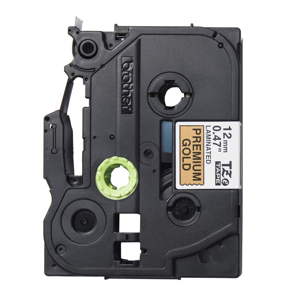 Brother original  TZe-PR831 etikettape – svart på glittrande guld, 12 mm bred 2
