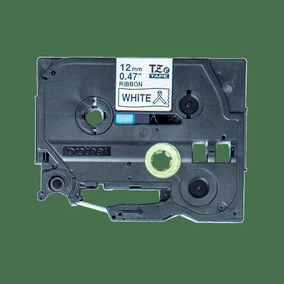 Brother original  TZe-R231 satinband - svart på vitt , 12 mm bred