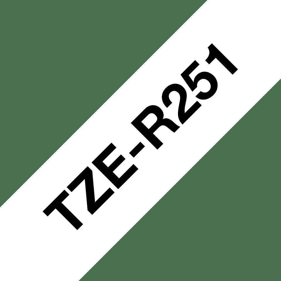 Äkta Brother TZe-R251 satinbandskassett – svart på vitt, 24 mm brett band 3