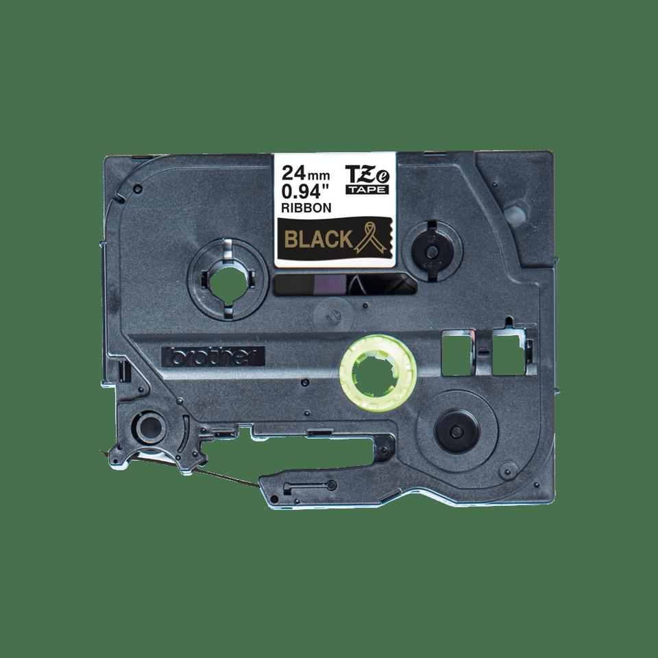 Äkta Brother TZe-R354 satinbandskassett – guld på svart, 24 mm brett band 2