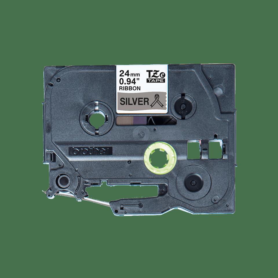Äkta Brother TZe-R951 satinbandskassett – svart på silver, 24 mm brett band 5