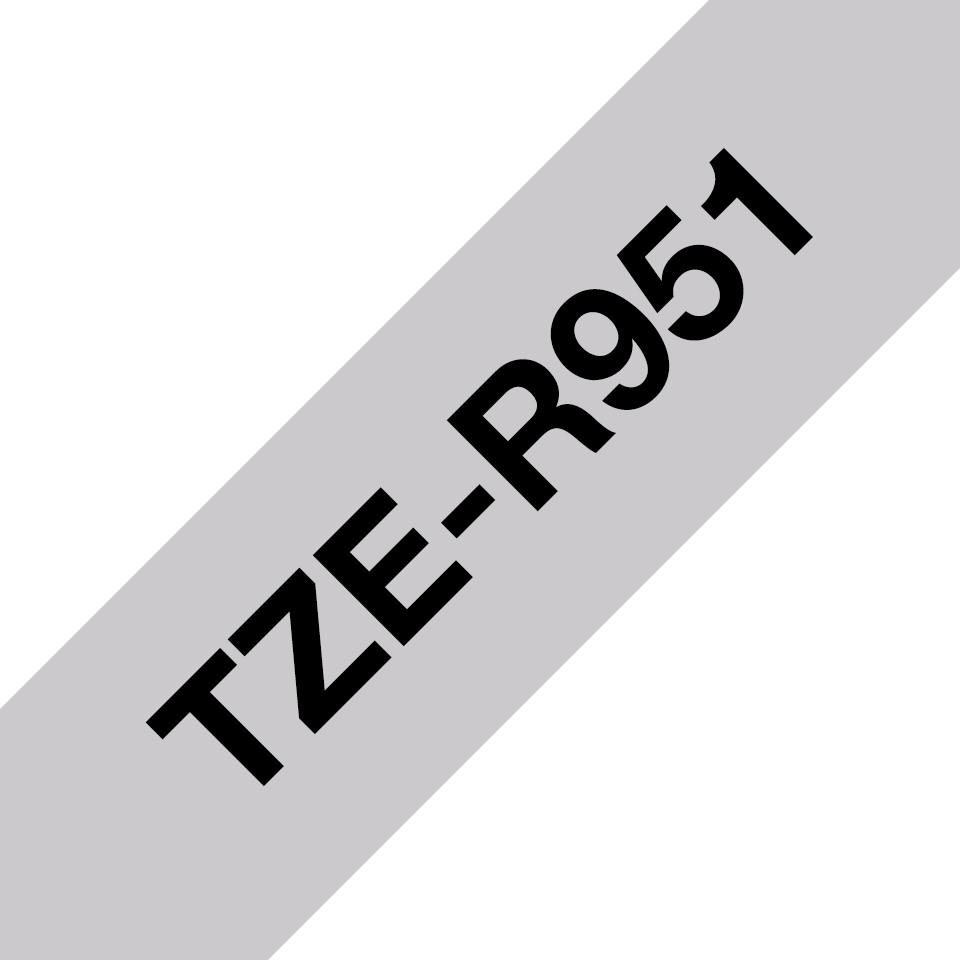 Äkta Brother TZe-R951 satinbandskassett – svart på silver, 24 mm brett band 3
