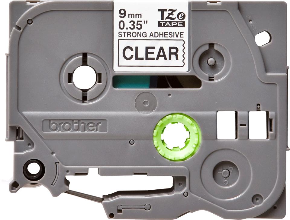 Brother TZeS121 original etikettape, svart på genomskinlig 9 mm