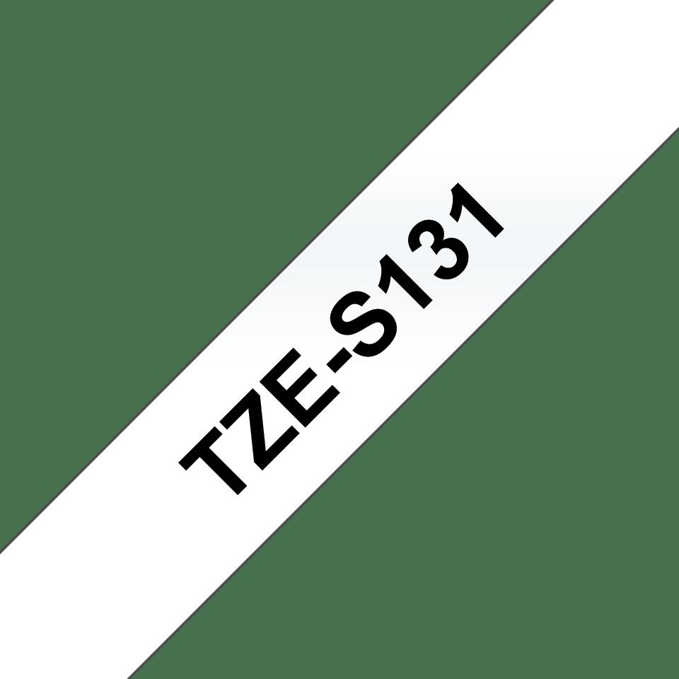 Brother TZeS131 original etikettape, svart på genomskinlig, 12 mm  3