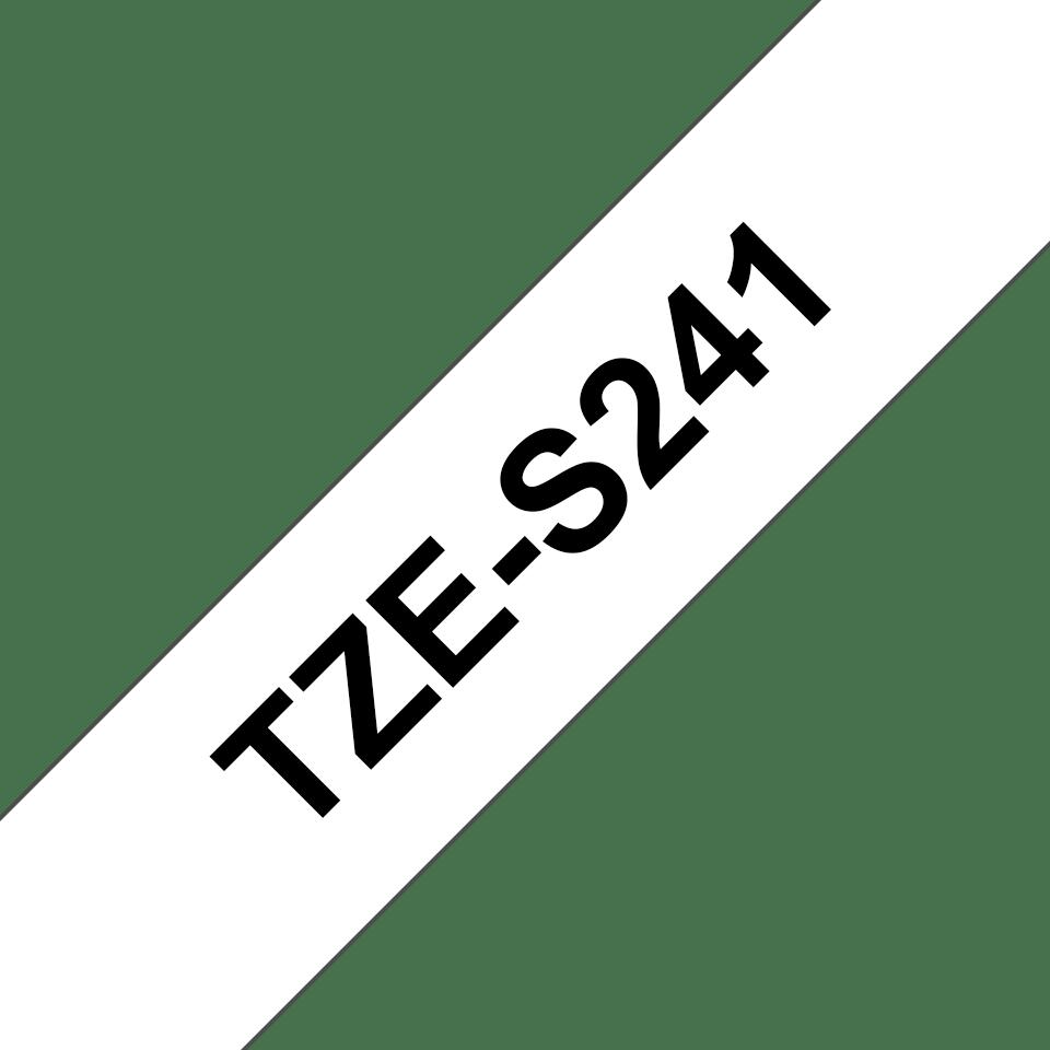 Brother TZeS241 original etikettape, svart på vit, 18 mm  3