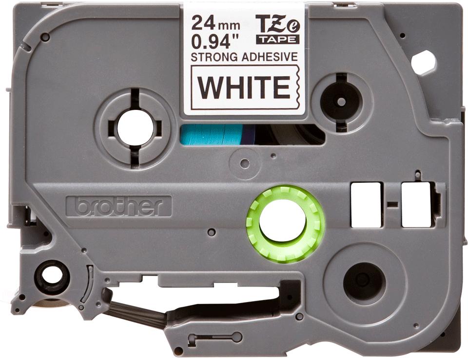 Brother TZe-S251 original etikettape- svart på vit laminerad, 24 mm bred