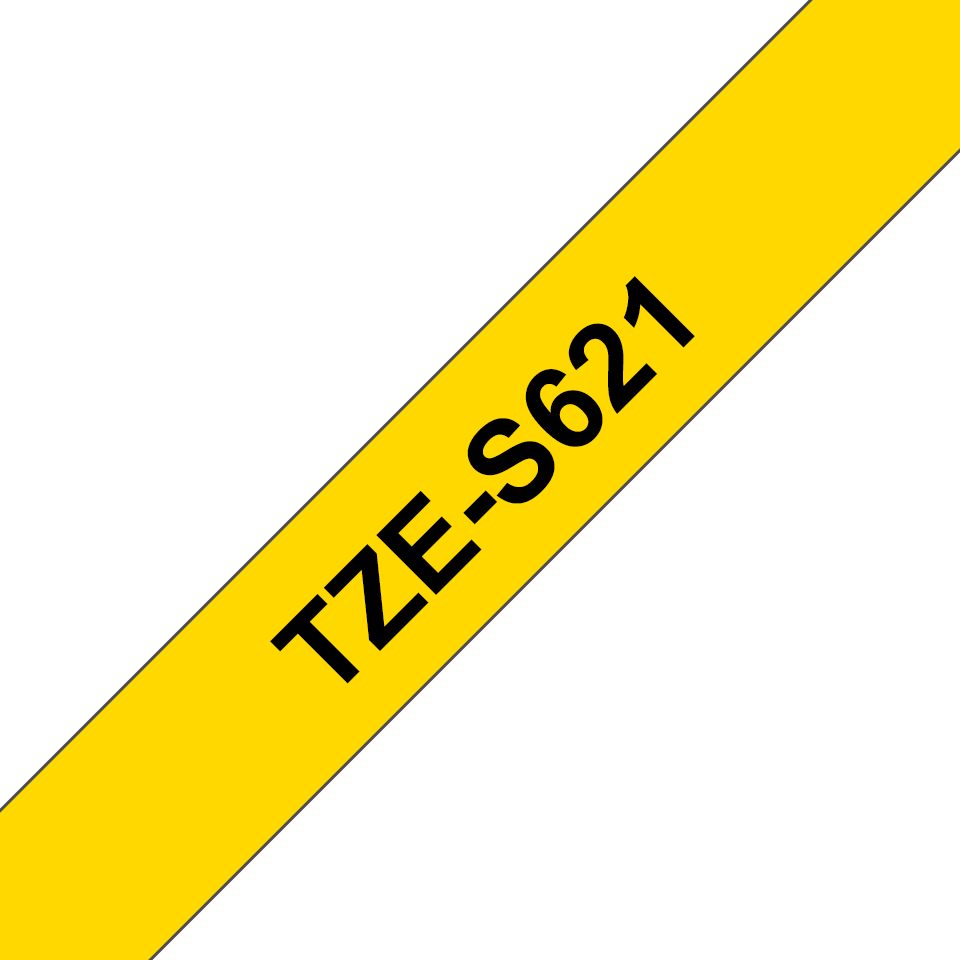 Brother TZeS621 original etikettape, svart på gul, 9 mm  3