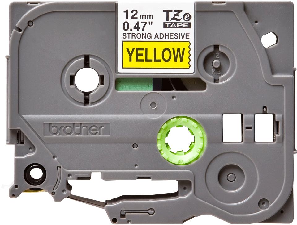 Brother TZeS631 original etikettape, svart på gul, 12 mm
