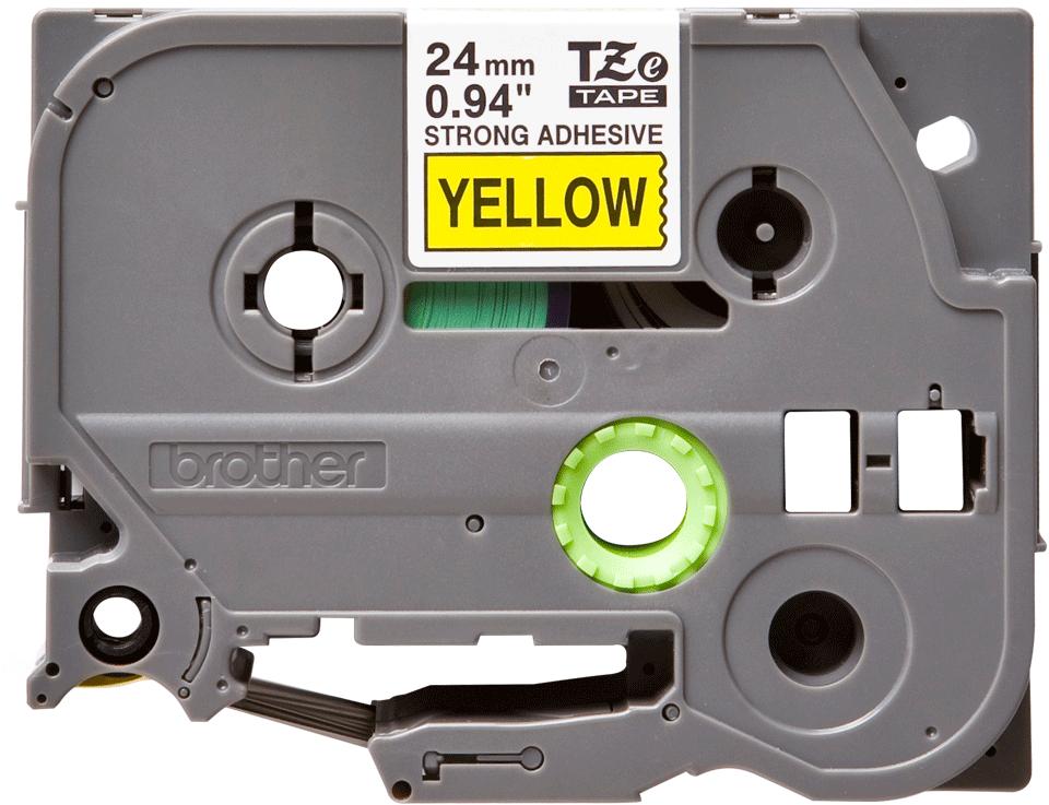 Brother TZES651 original etikettape, svart på gul, 24 mm